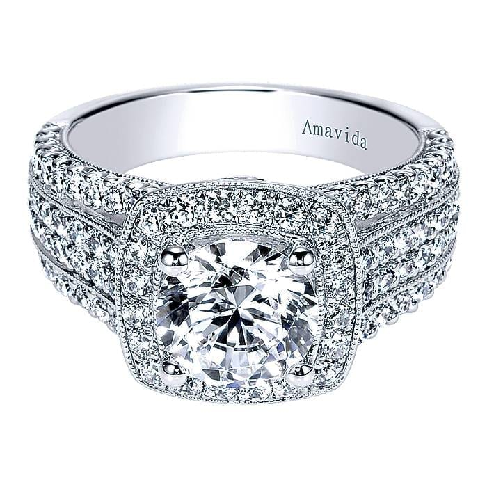 Luminous Strands Of Pave Accent Diamonds Overlay The Wide Band Of This Exquisite Victorian Engagement Ring Diamond Design