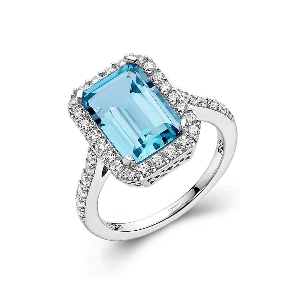 Beautiful Blue Topaz stone handmade silver plated ring